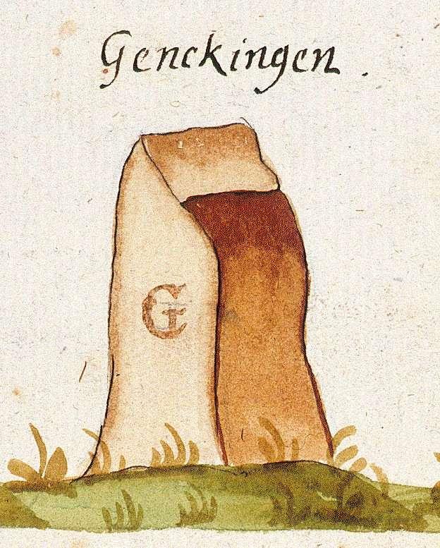 Genkingen, Sonnenbühl RT (Tübinger Forst, Marksteinzeichen I), Bild 1