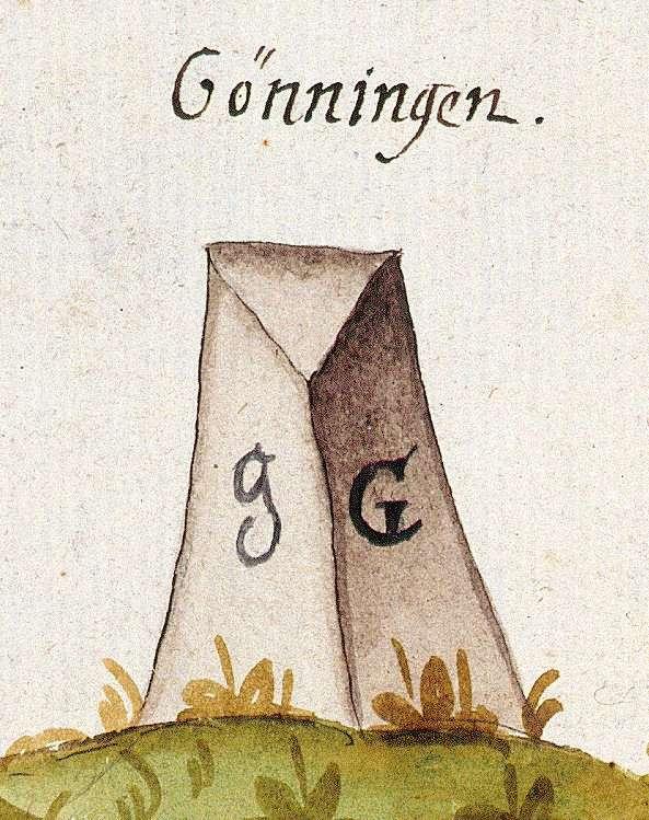 Gönningen, Reutlingen RT (Tübinger Forst, Marksteinzeichen I), Bild 1
