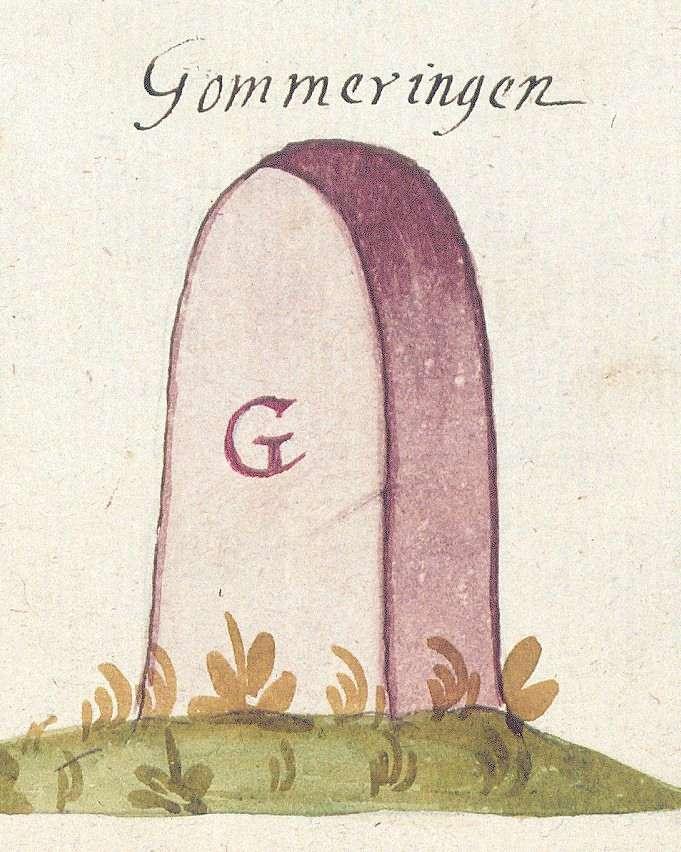 Gomaringen TÜ (Tübinger Forst, Marksteinzeichen II), Bild 1