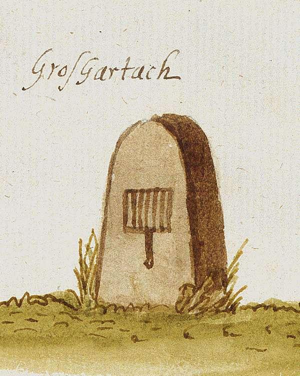 Großgartach, Leingarten HN (Stromberger Forst, Marksteinzeichen III), Bild 1