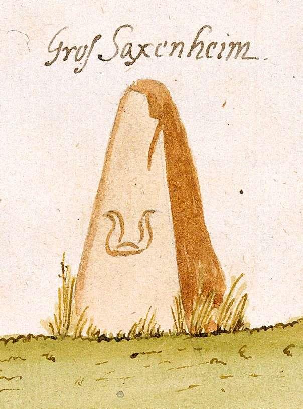 Großsachsenheim, Sachsenheim LB (Stromberger Forst, Marksteinzeichen I), Bild 1