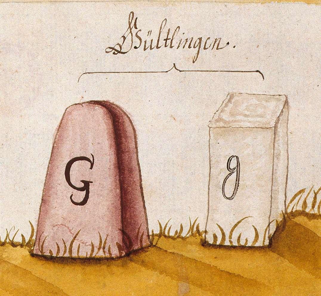Gültlingen, Wildberg CW (Böblinger Forst, Marksteinzeichen I), Bild 1