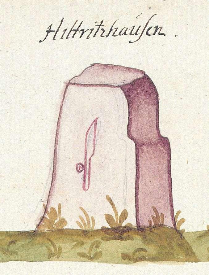 Hildrizhausen BB (Tübinger Forst, Marksteinzeichen II), Bild 1