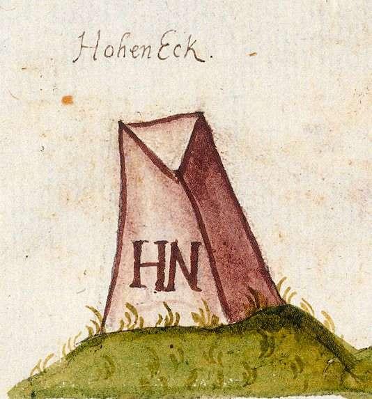 Hoheneck : Ludwigsburg LB (Leonberger Forst, Marksteinzeichen II), Bild 1