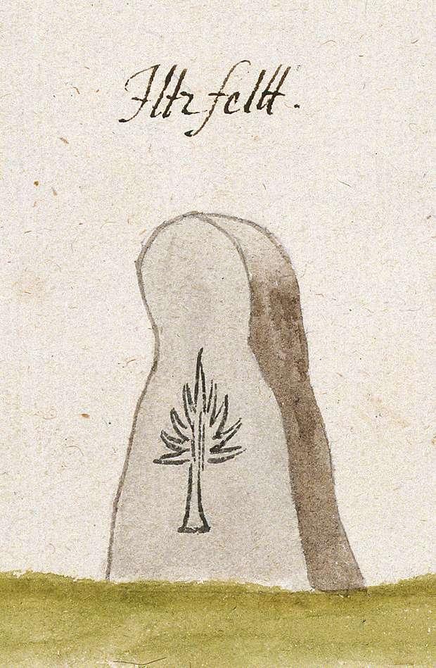 Ilsfeld HN (Reichenberger Forst, Marksteinzeichen I), Bild 1