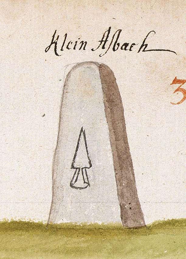 Kleinaspach, Aspach WN (Reichenberger Forst, Marksteinzeichen II), Bild 1