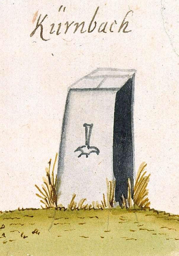 Kürnbach, KA (Stromberger Forst, Marksteinzeichen I), Bild 1