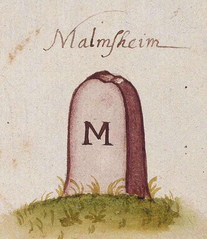 Malmsheim, Renningen BB (Leonberger Forst, Marksteinzeichen I), Bild 1