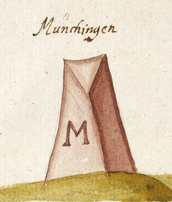 Münchingen, Korntal-Münchingen LB (Leonberger Forst, Marksteinzeichen IV), Bild 1