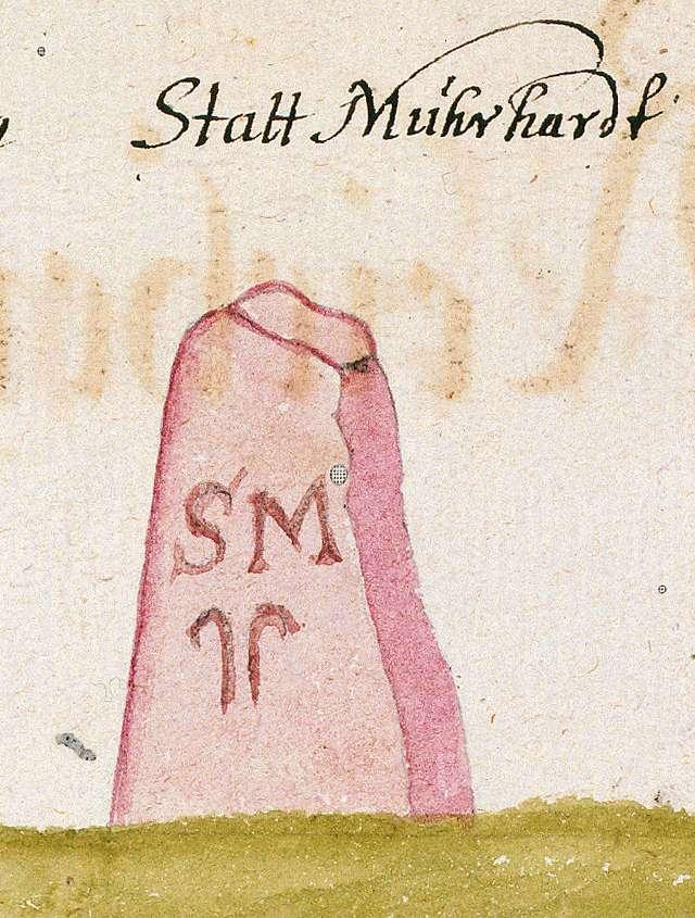 Murrhardt, Kloster WN (Reichenberger Forst, Marksteinzeichen I), Bild 1