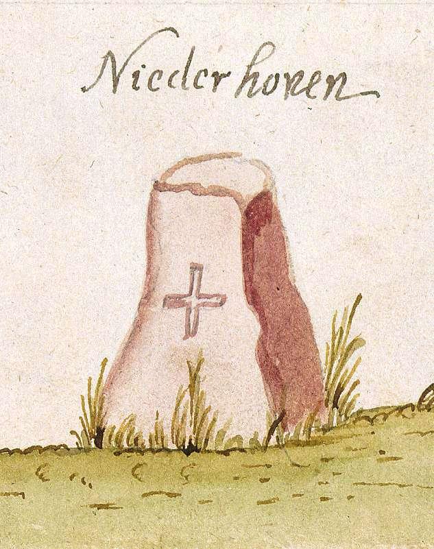 Niederhofen, Schwaigern HN (Stromberger Forst, Marksteinzeichen I), Bild 1