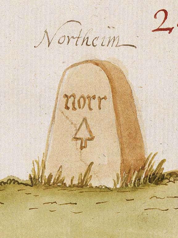 Nordheim HN (Stromberger Forst, Marksteinzeichen II), Bild 1