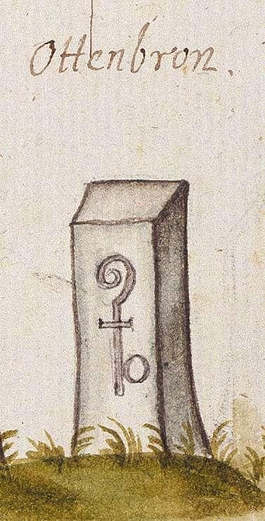 Ottenbronn, Althengstett CW (Leonberger Forst, Marksteinzeichen I), Bild 1