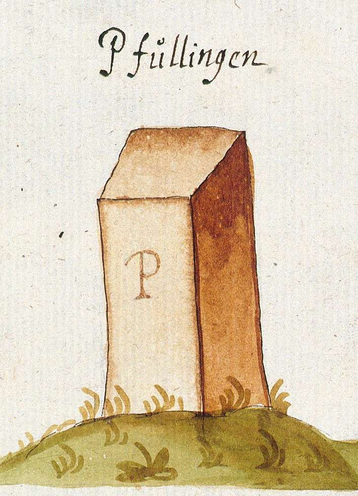 Pfullingen RT (Tübinger Forst, Marksteinzeichen I), Bild 1