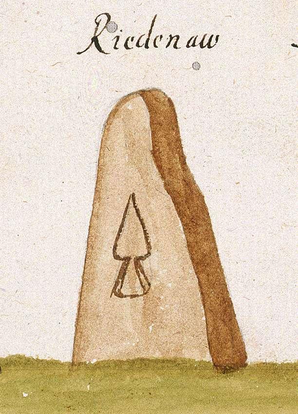 Rietenau, Aspach WN (Reichenberger Forst, Marksteinzeichen II), Bild 1