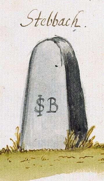 Stebbach, Gemmingen HN (Stromberger Forst, Marksteinzeichen IV), Bild 1