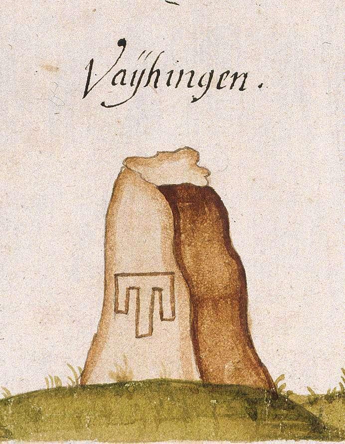 Vaihingen, Stkr. Stuttgart (Böblinger Forst, Marksteinzeichen III), Bild 1