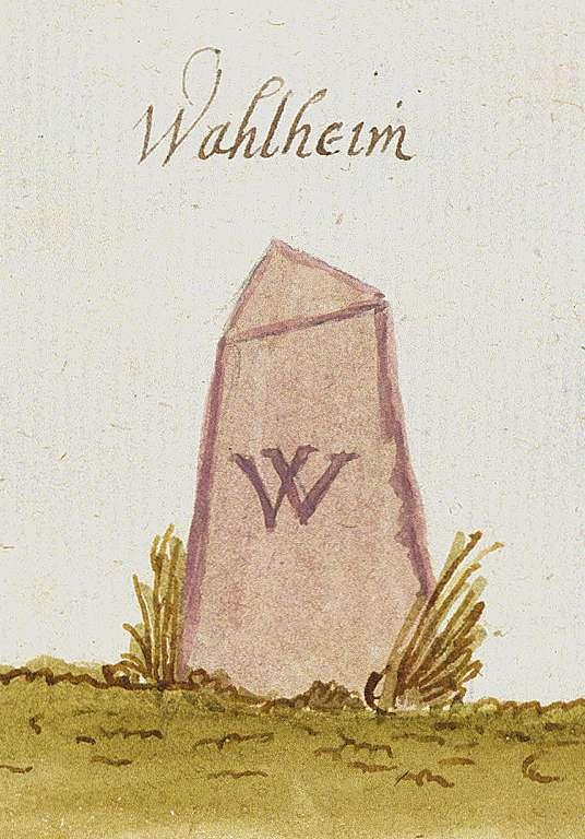 Walheim LB (Stromberger Forst, Marksteinzeichen III), Bild 1