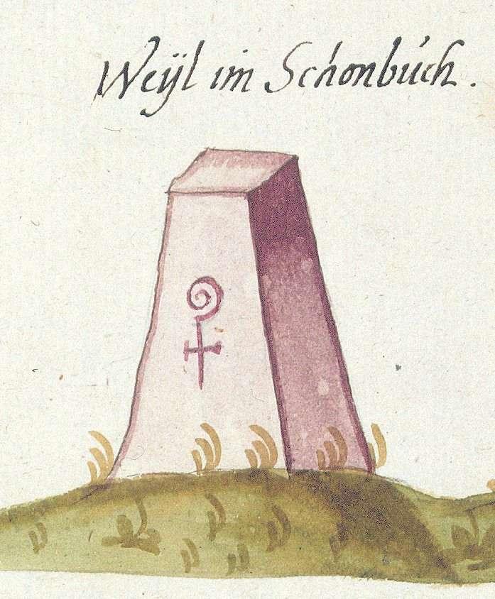 Weil im Schönbuch BB (Tübinger Forst, Marksteinzeichen II), Bild 1