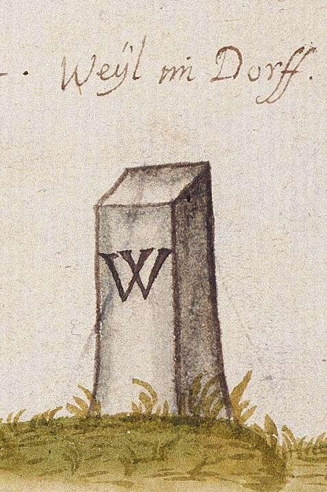 Weilimdorf, Stkr. Stuttgart (Leonberger Forst, Marksteinzeichen I), Bild 1