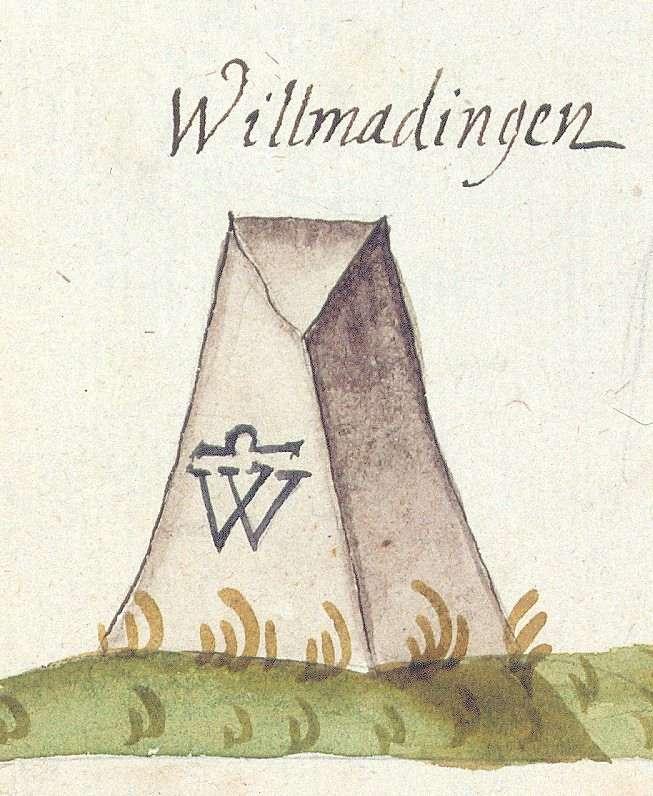 Willmandingen, Sonnenbühl RT (Tübinger Forst, Marksteinzeichen II), Bild 1