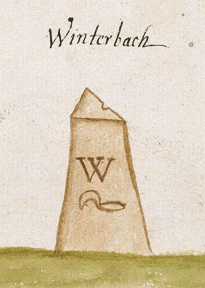 Winterbach WN (Reichenberger Forst, Marksteinzeichen I), Bild 1