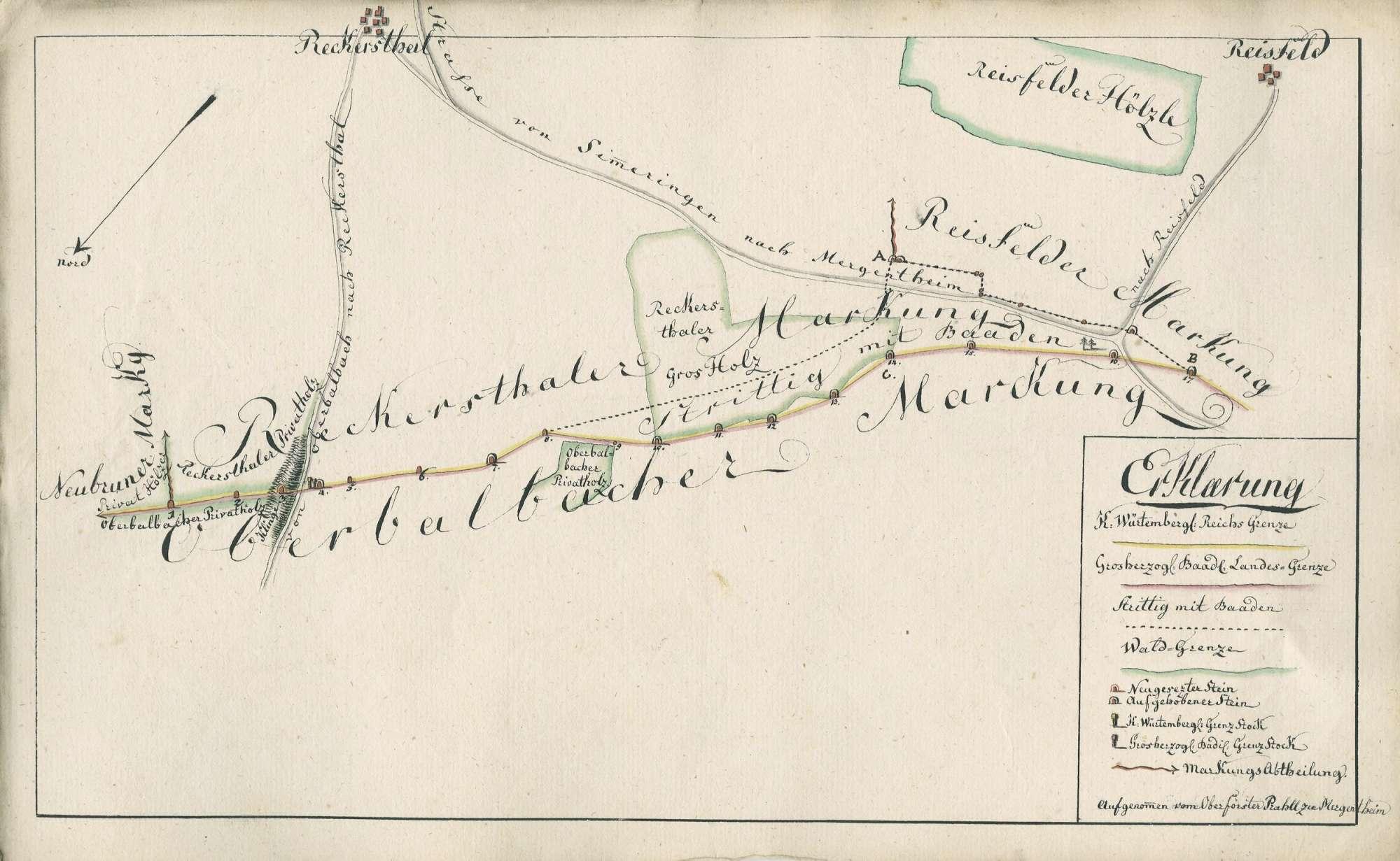 [Grenzziehung zwischen Oberbalbach und Reckerstal], Bild 1