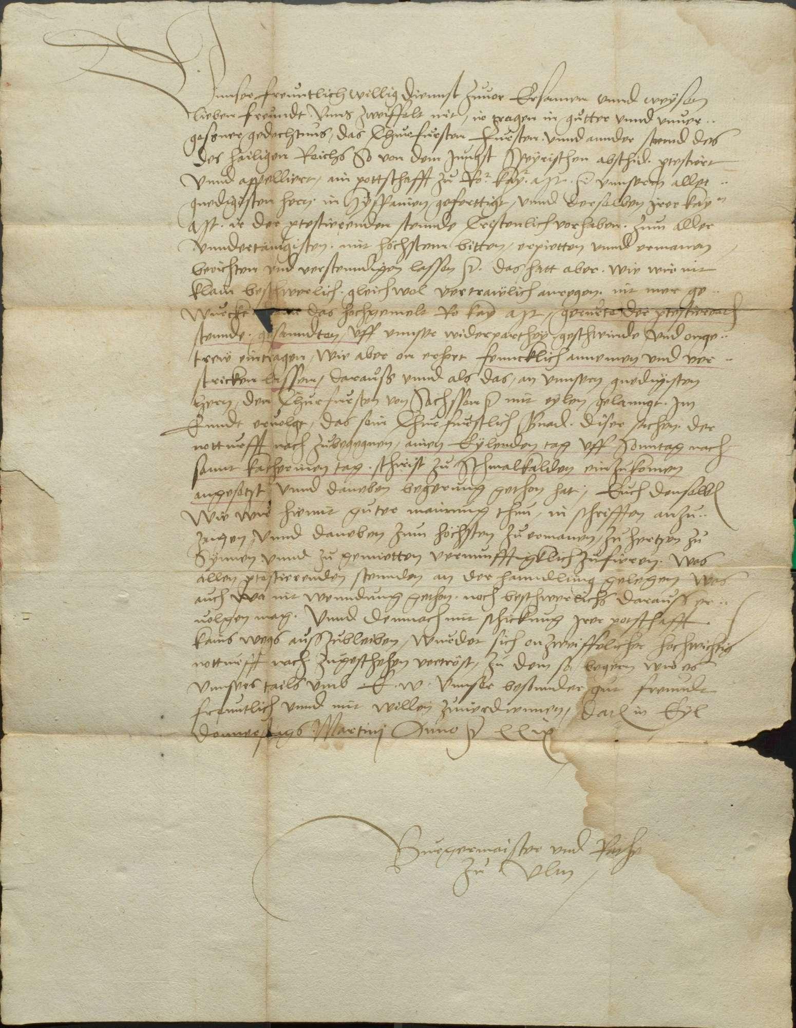 Zusammenkunft und Abschied der protestantischen Stände zu Schmalkalden, Bild 3