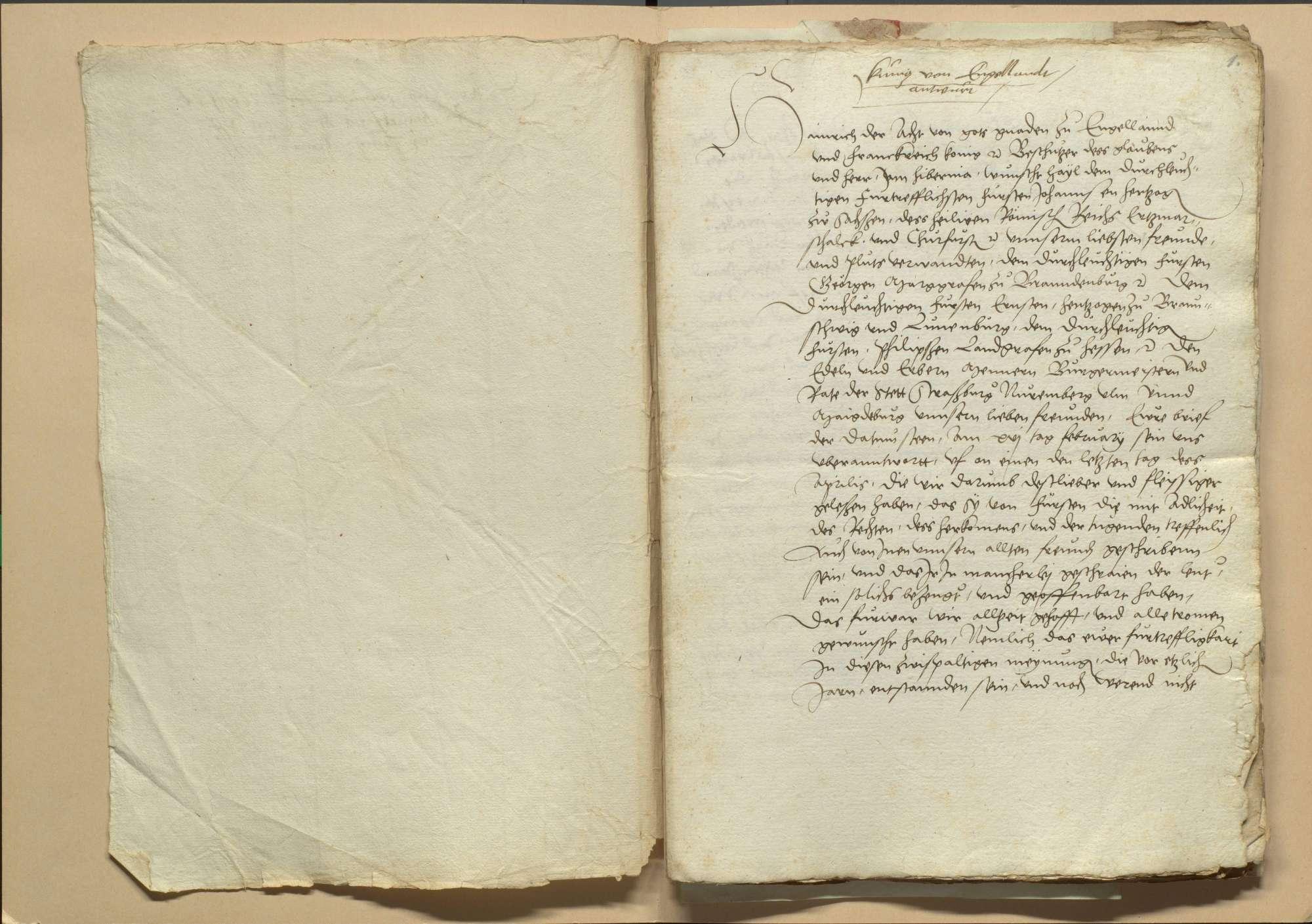 Versammlung der protestierenden Stände zu Frankfurt vom 4. Juni 1531 wegen einiger zu Schmalkalden am Thomastag 1530 noch nicht verabschiedeter Artikel und dem hier gemachten Abschied, Bild 3