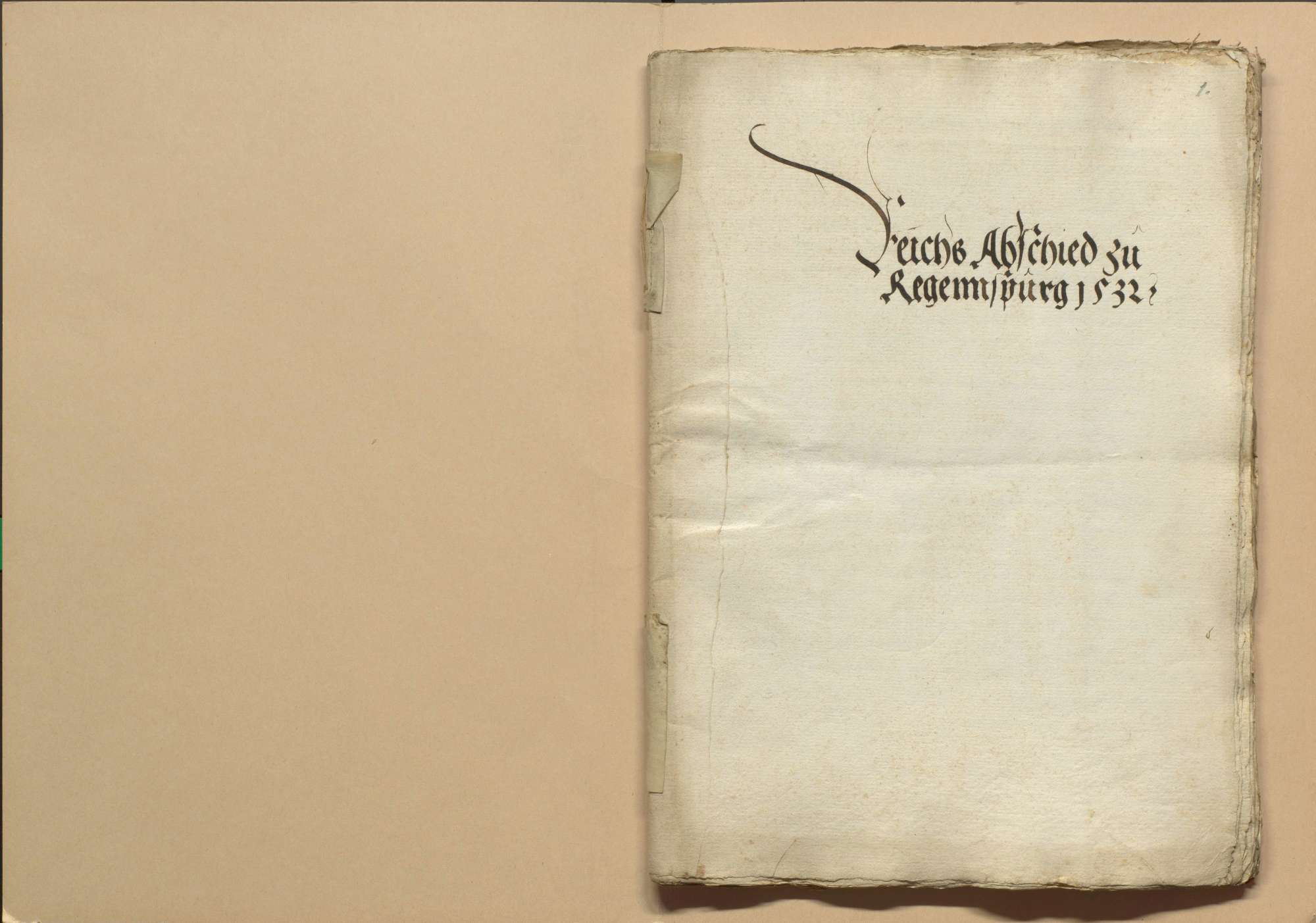 Briefwechsel der Stadt Heilbronn mit Regensburg und Nürnberg wegen des nach Regensburg ausgeschriebenen Reichstags, Bild 2