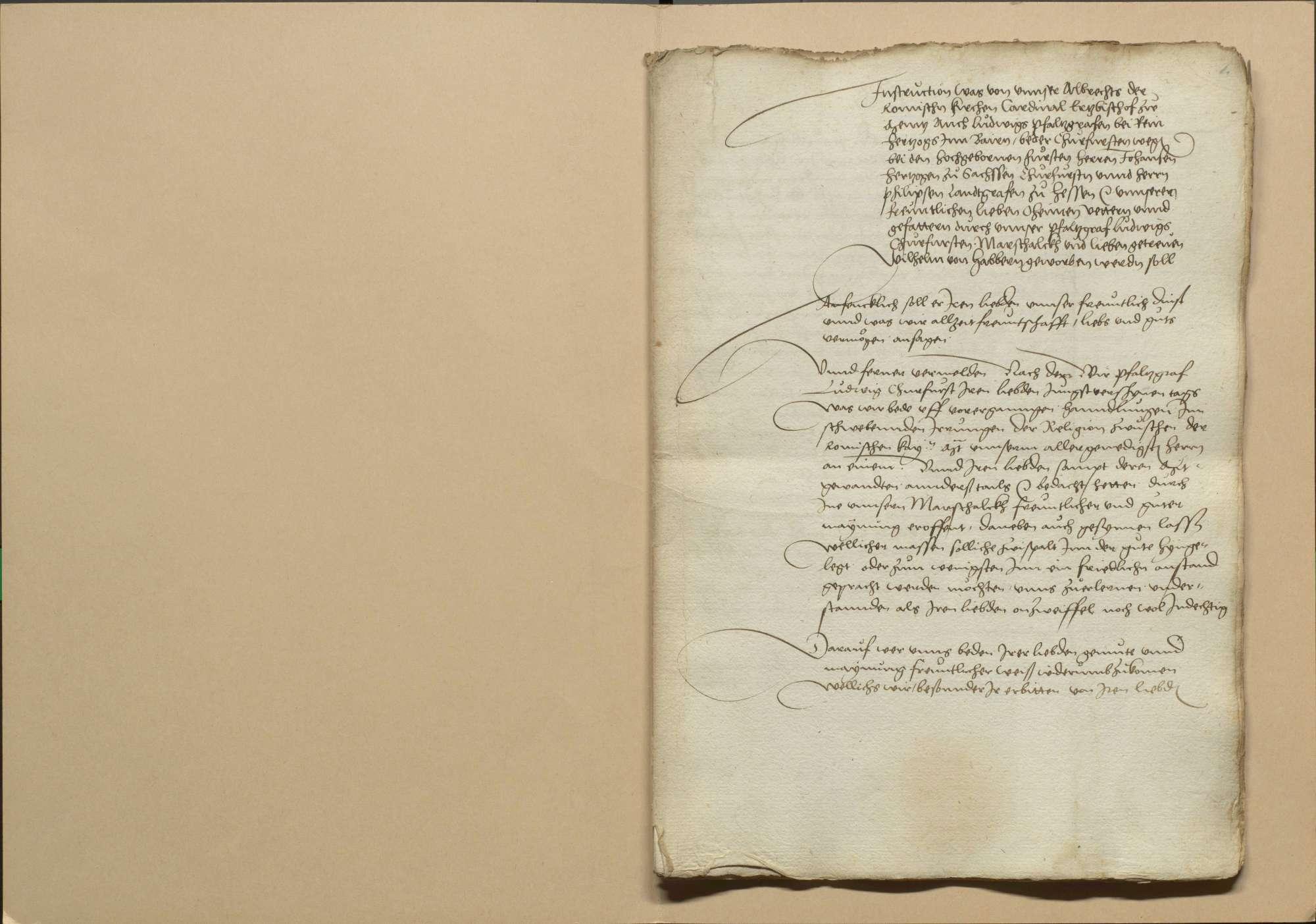 Zusammenkunft der protestantischen Stände und der beiden katholischen Kurfürsten Mainz und Pfalz zu Schweinfurt am Ostertag (am 31. März) 1532 wegen gütlicher Auseinandersetzung der Religionsstreitigkeiten, Bild 3