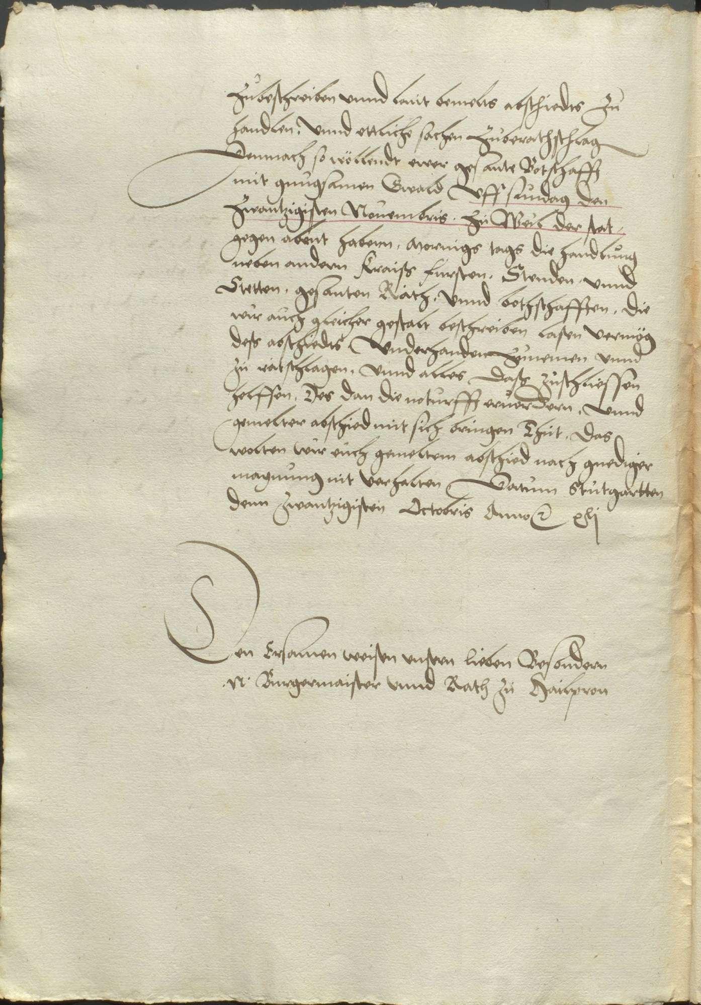 Kraft des Abschieds zu Regensburg von 1541 angesetzter Versammlungstag der Stände zu Speyer auf dem 14. Januar 1542 und der deswegen vom Herzog von Württemberg vorher ausgeschriebene Versammlungstag der Stände des Schwäbischen Kreises nach Weil der Stadt auf den 20. November 1541. Es sollte auf dem Speyerischen Tag wegen der Reichsanschläge, der Münze, der Kammergerichtsvisitation, der beharrlichen Türkenhilfe, der Polizei, der Straßburgischen Beschwerden gegen das Kammergericht, des Stimmrechts der Reichsstände, der Mordbrenner und der Rechnung der Anlagen, vermöge des Reichsabschieds und des Privatabschieds der Protestanten zu Regensburg von 1541 gehandelt werden., Bild 3