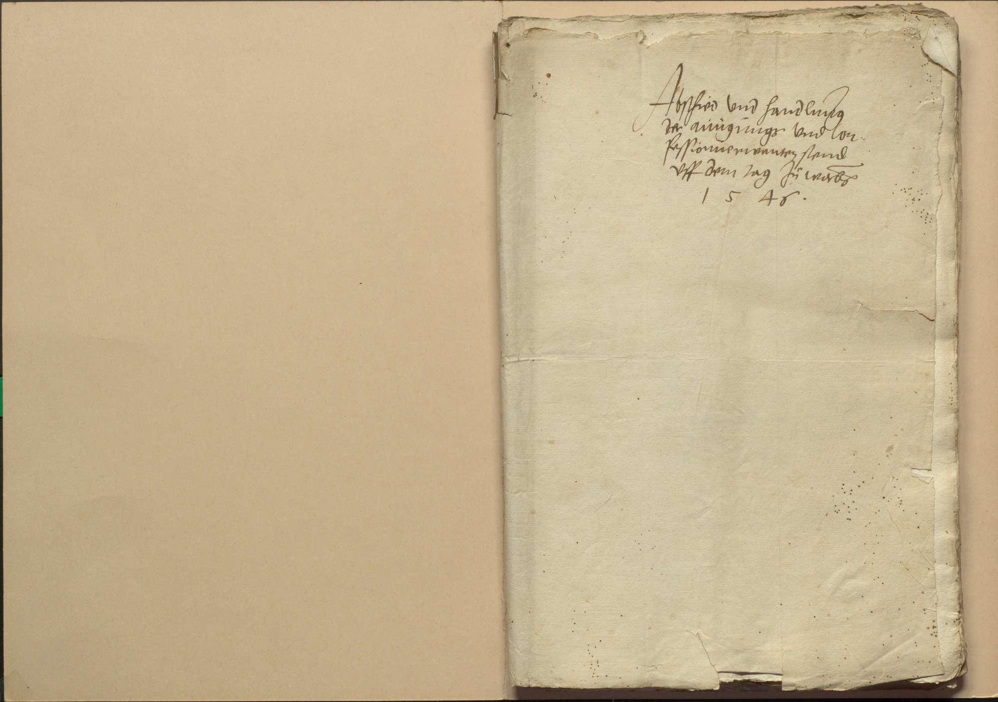 Handlungen und Abschiede der einigungsverwandten Stände auf dem Versammlungstag zu Worms am 1. April 1546, Bild 2