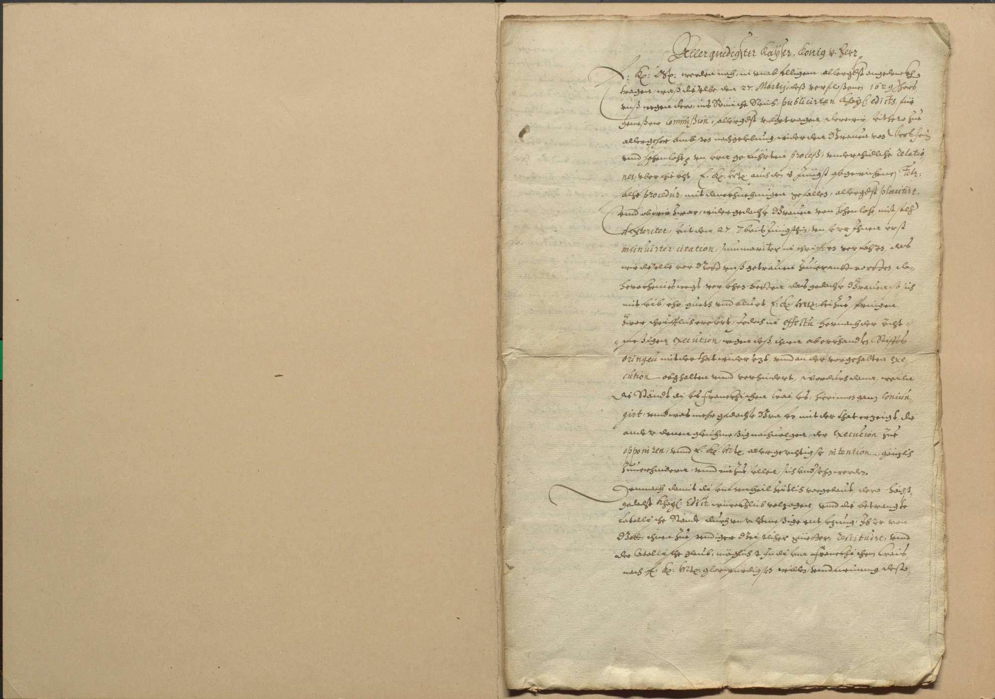 Exekution des Restitutionsedikts im Fränkischen Kreis und Bericht der Kommissare an den Kaiser, Bild 2