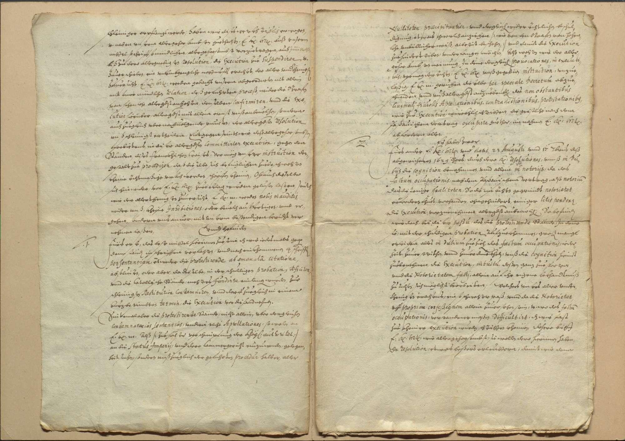 Exekution des Restitutionsedikts im Fränkischen Kreis und Bericht der Kommissare an den Kaiser, Bild 3