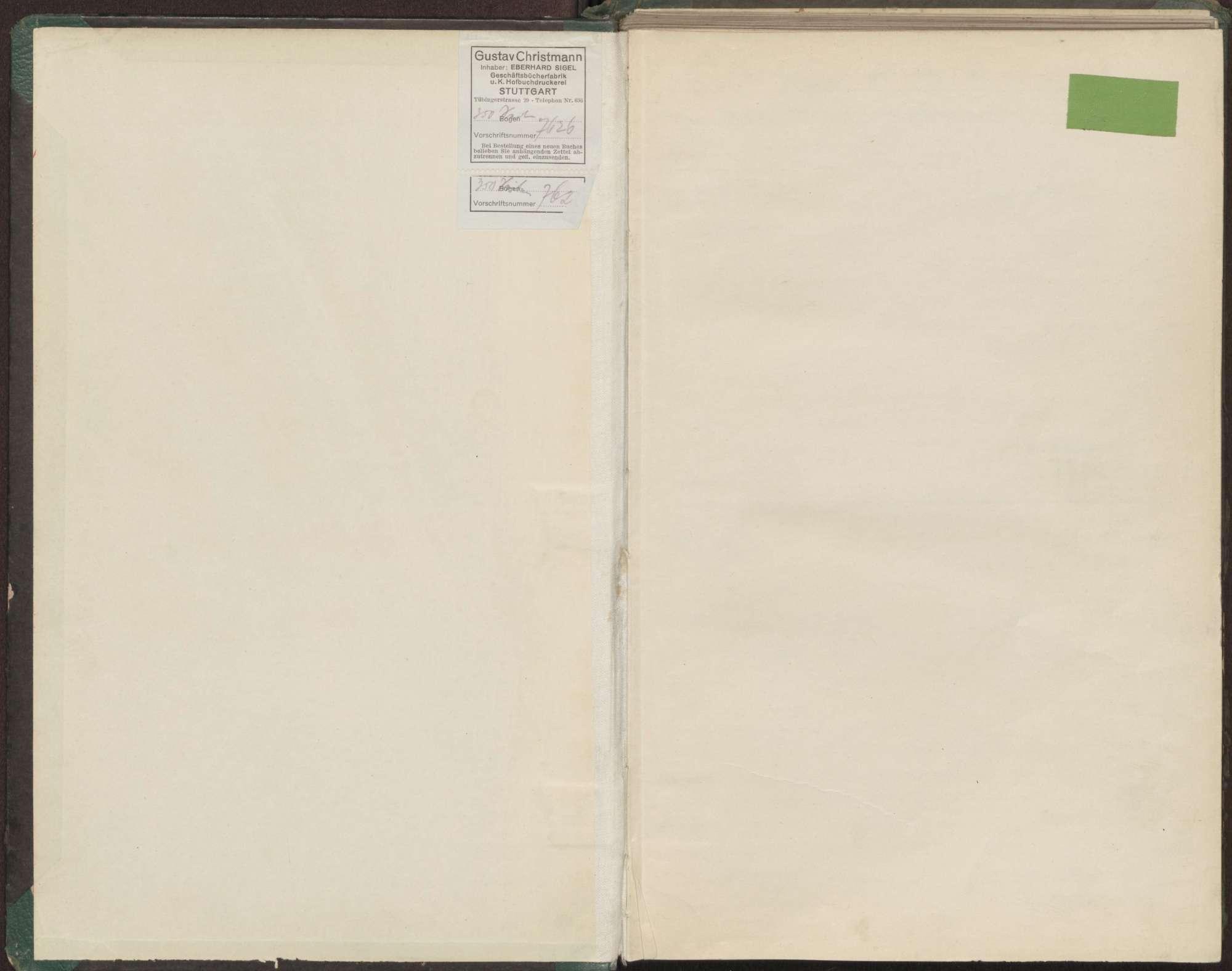 Proben- und Aufführungsbuch 1922/1923, Bild 2