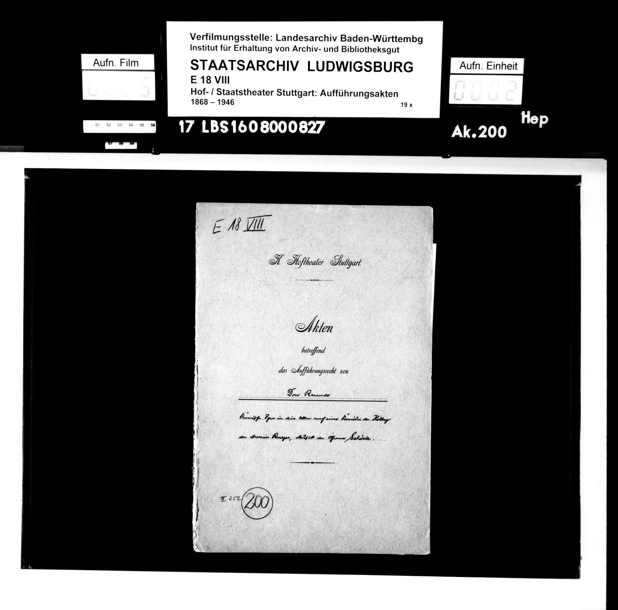 Don Ranudo. Komische Oper in vier Akten nach einer Komödie von Ludwig Holberg von Armin Rüeger. Musik: Othmar Schoeck, Bild 1