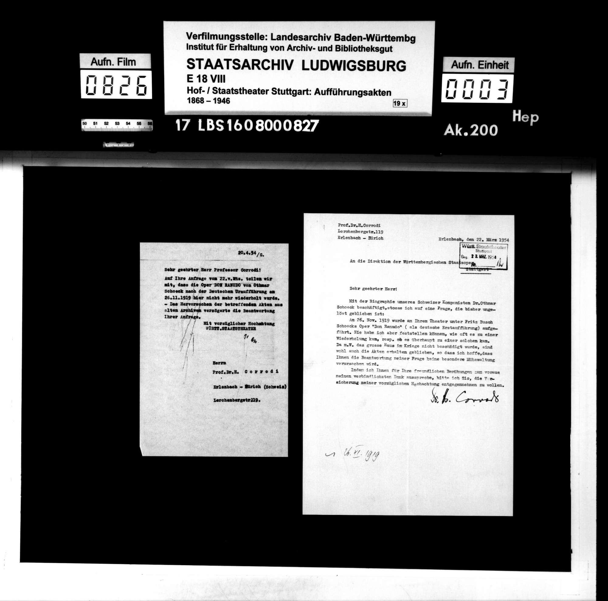 Don Ranudo. Komische Oper in vier Akten nach einer Komödie von Ludwig Holberg von Armin Rüeger. Musik: Othmar Schoeck, Bild 2