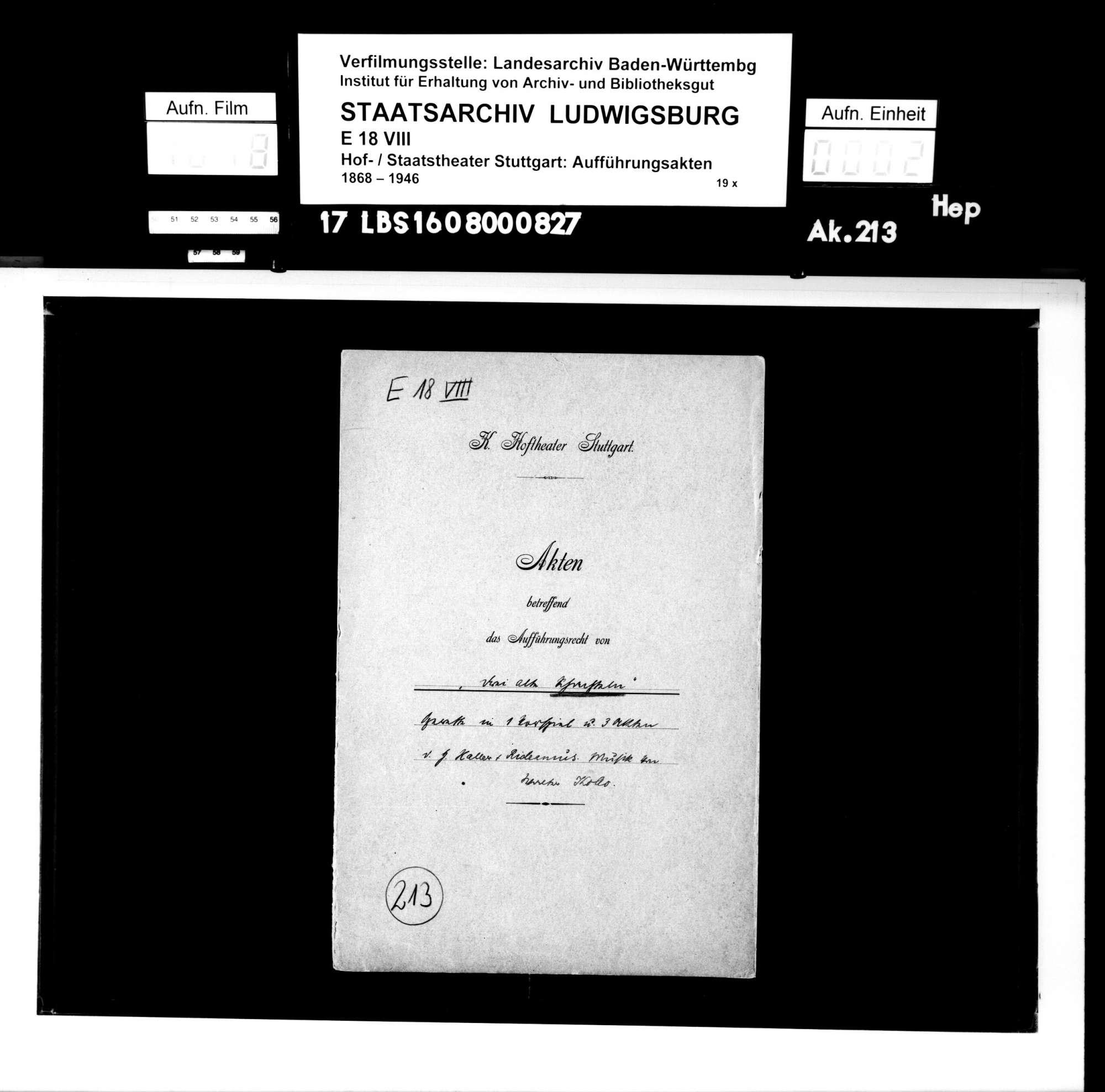 Drei alte Schachteln. Operette von Hermann Haller und Rideamus (= Fritz Oliven). Musik: Walter Kollo, Bild 1