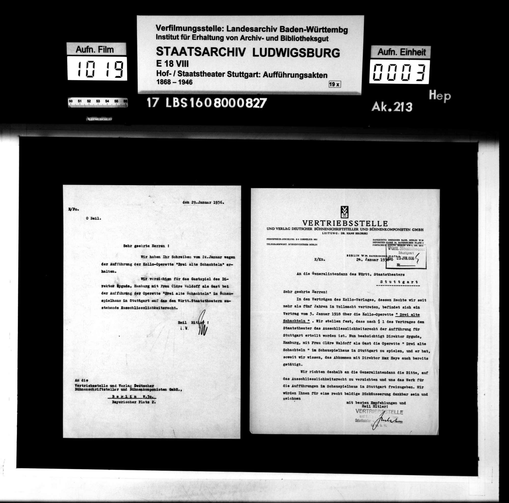 Drei alte Schachteln. Operette von Hermann Haller und Rideamus (= Fritz Oliven). Musik: Walter Kollo, Bild 2