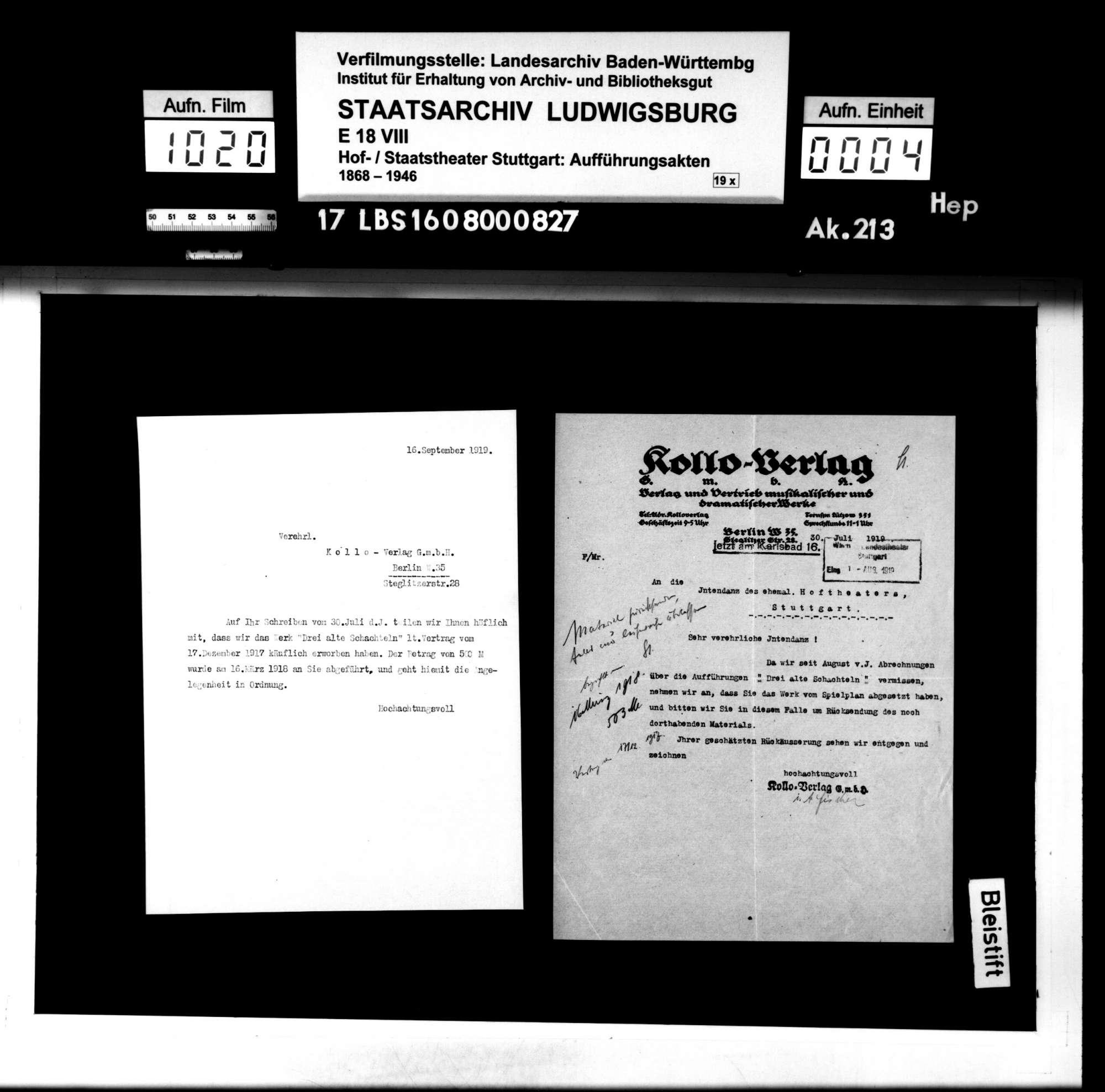 Drei alte Schachteln. Operette von Hermann Haller und Rideamus (= Fritz Oliven). Musik: Walter Kollo, Bild 3