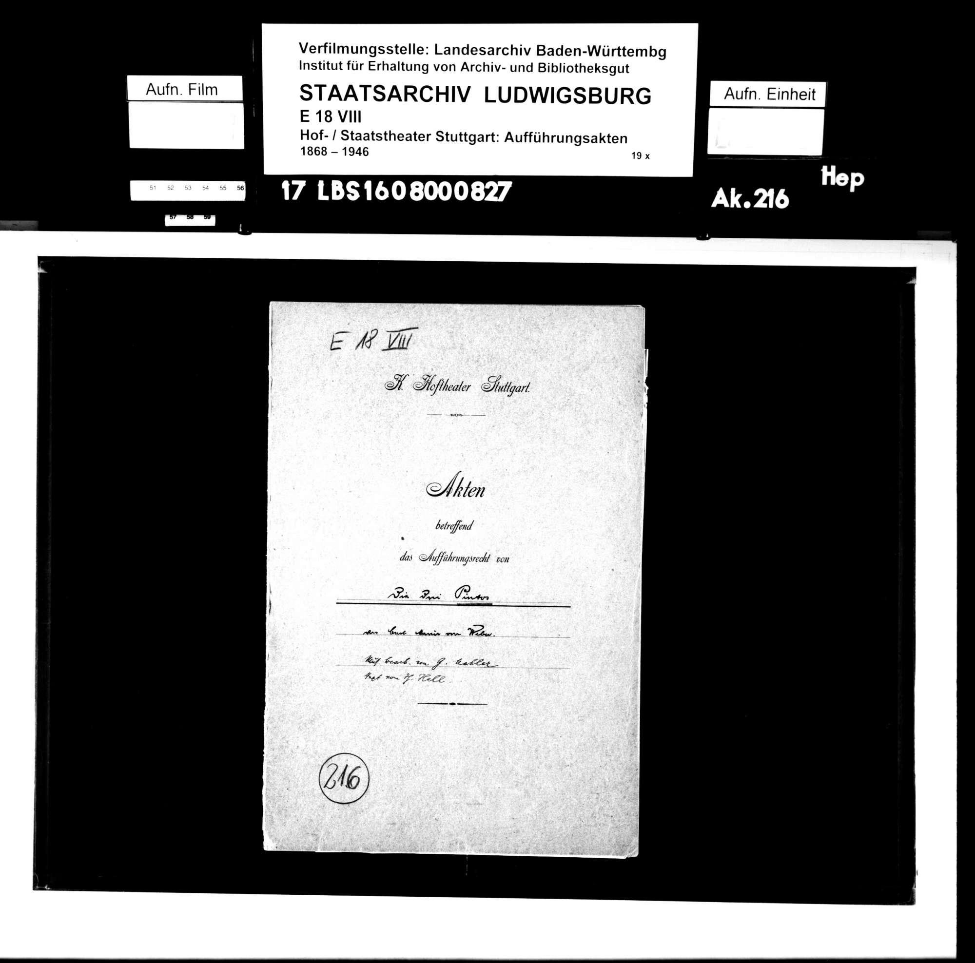 Die drei Pintos. Komische Oper von Carl Maria von Weber. Neue Bearbeitung: Karl von Weber. Musik: Gustav Mahler, Bild 1