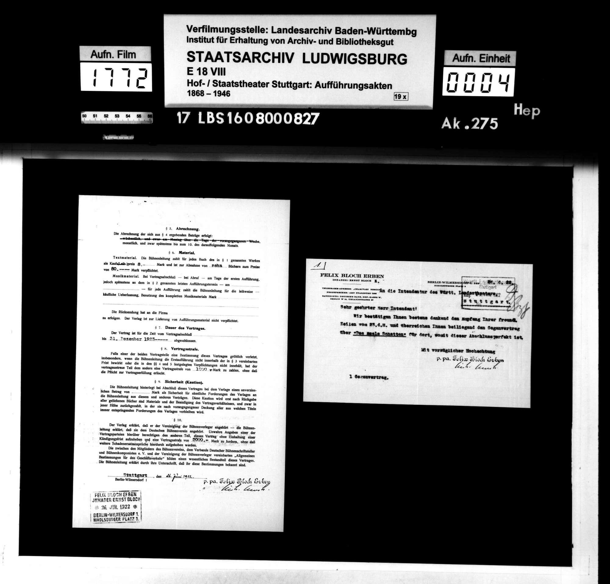 """Des Esels Schatten. Lustspiel von Ludwig Fulda mit freier Anlehnung an Christoph Martin Wielands """"Abderiten"""", Bild 3"""