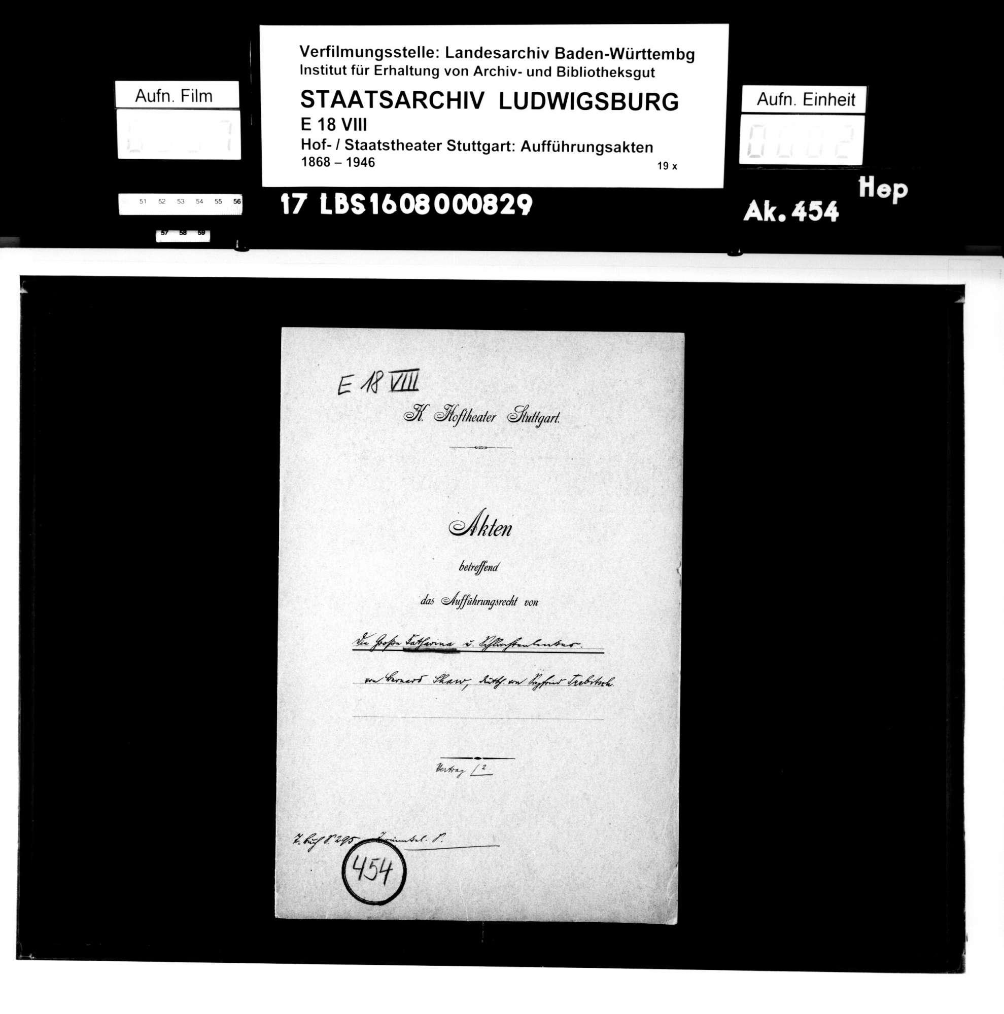 Die große Katharina. Schauspiel von George Bernard Shaw; deutsche Übersetzung von Siegfried Trebitsch, Bild 1