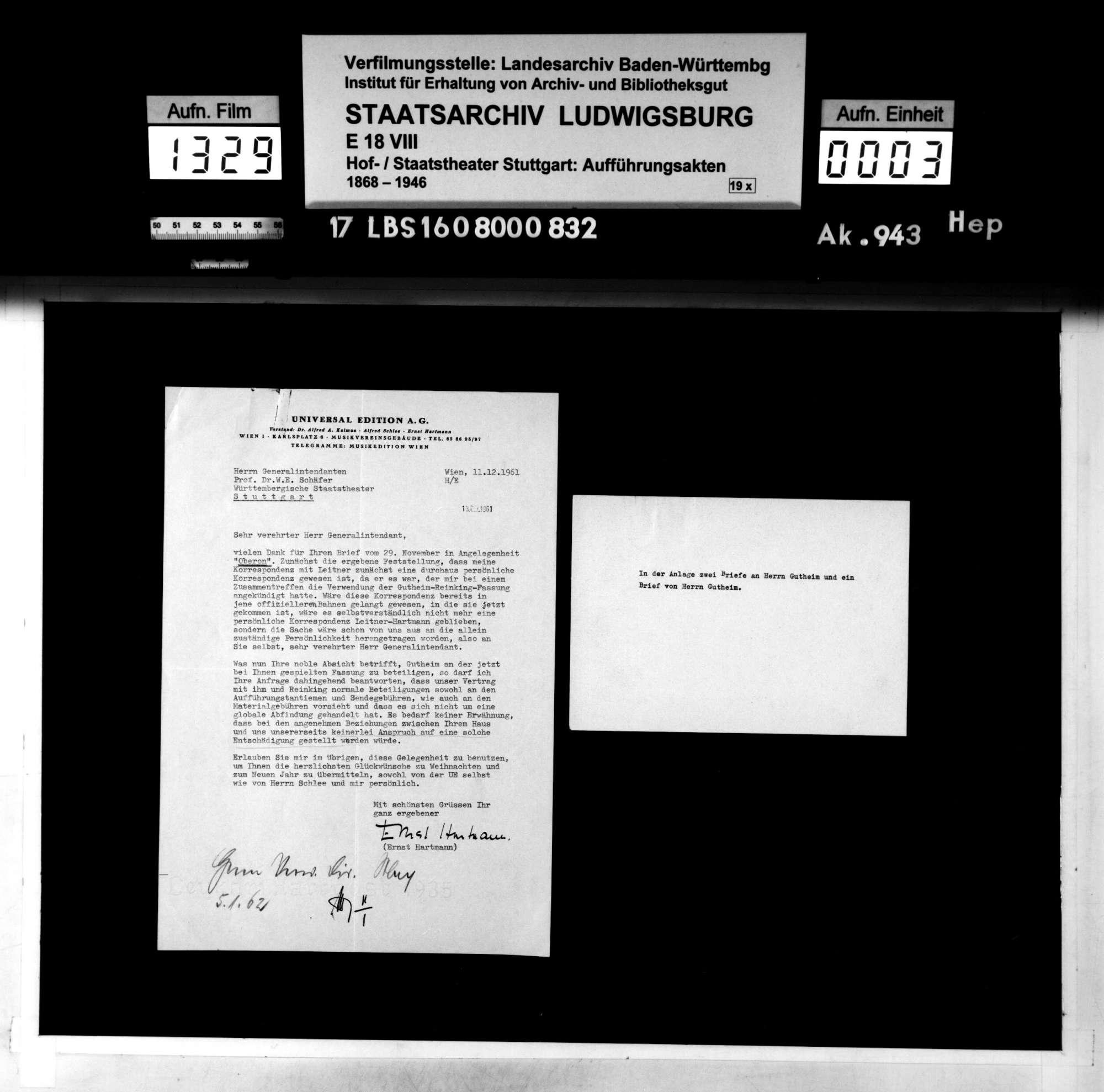 Oberon. Romantische Oper von Carl Maria von Weber; bearbeitet von Gustav Mahler. Szenische Bemerkungen von Alfred Roller. Neu-Übertragung von Gustav Brecher und E. Bloch., Bild 2