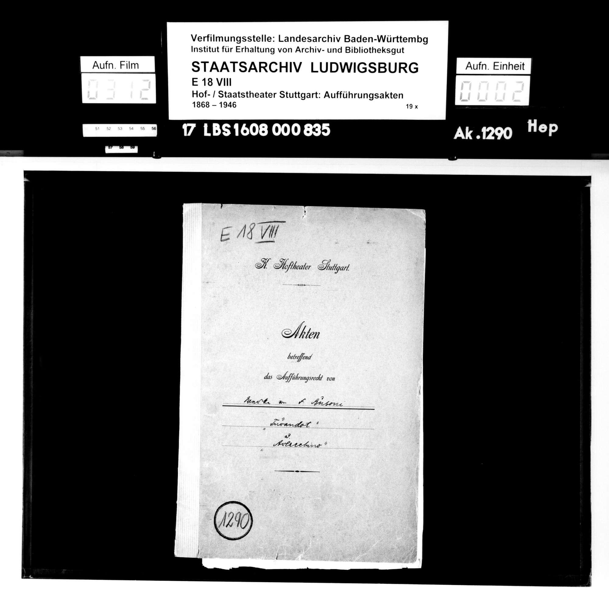Turandot. Oper von Ferrucio Busoni; Text: Karl Vollmöller, Bild 1