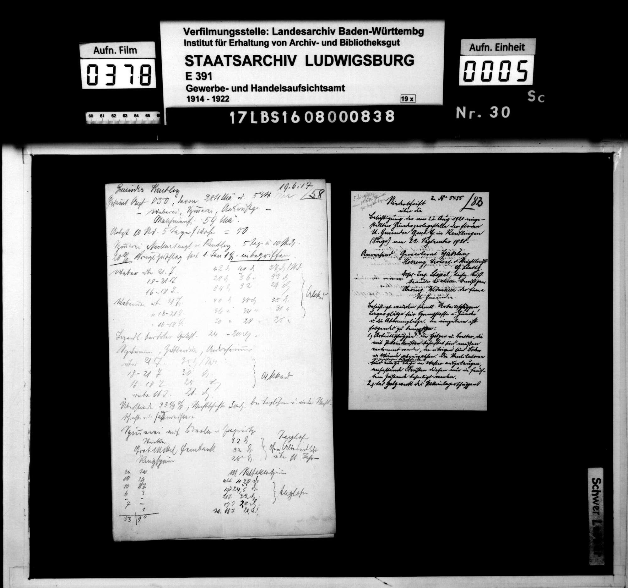 Ulrich Gminder, Reutlingen: Herstellung von Geschoßzündern und Zerlegung von solchen nach Schluß des Krieges, Bild 3
