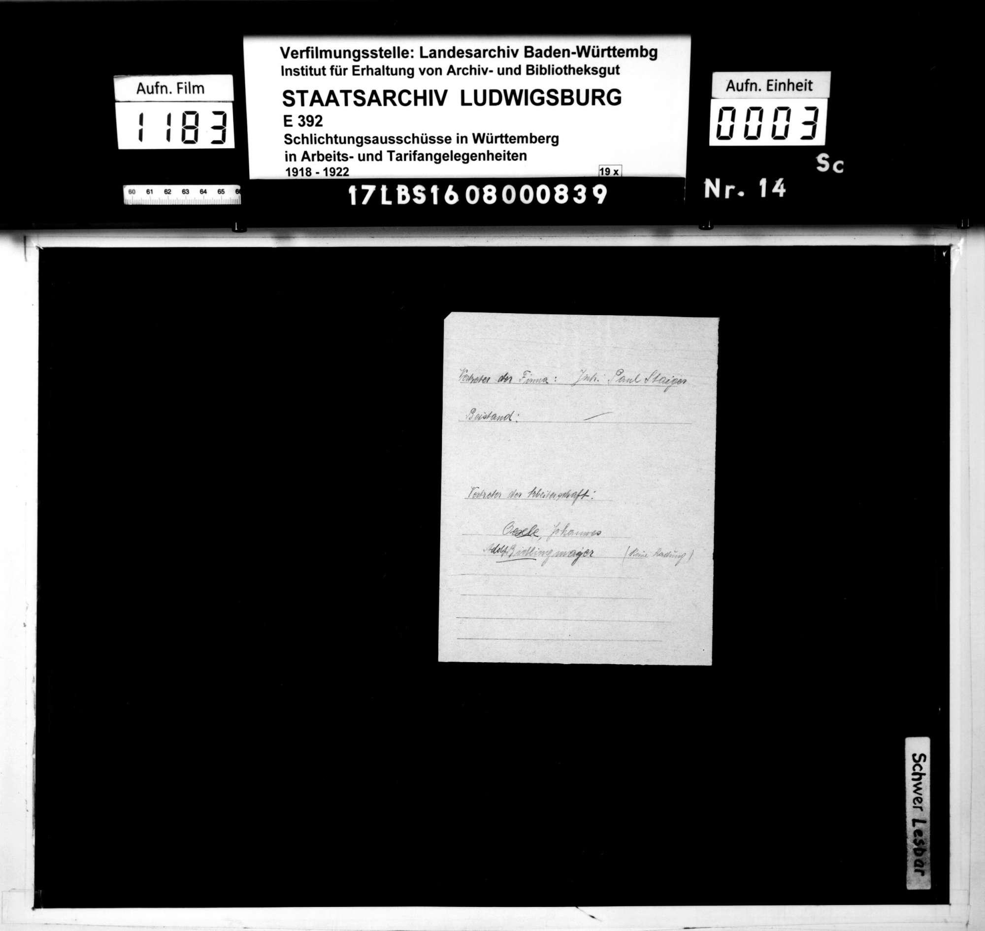 Lohnstreitigkeiten zwischen der Firma Paul Staiger, Automobilhaus, Stuttgart, und ihrer Arbeiterschaft, Bild 1