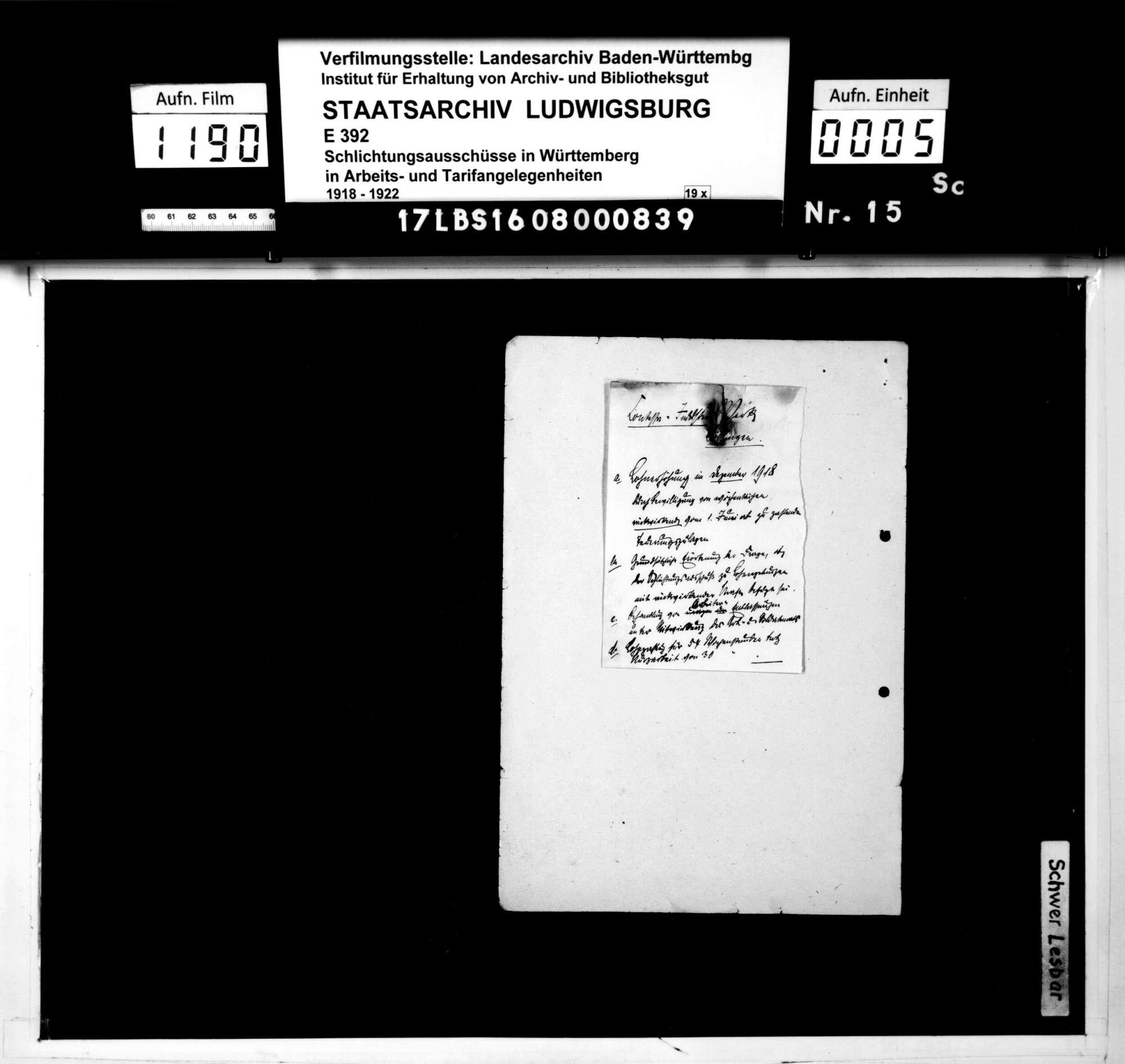 Lohnstreitigkeiten zwischen der Arbeiterschaft und der Betriebsleitung der Firma Contessa-Industrie-Werke August NagelQu. Böblingen - Stuttgart - Reutlingen, Werk Böblingen, weben verweigerter Gewährung von Teuerungszulagen, Bild 3