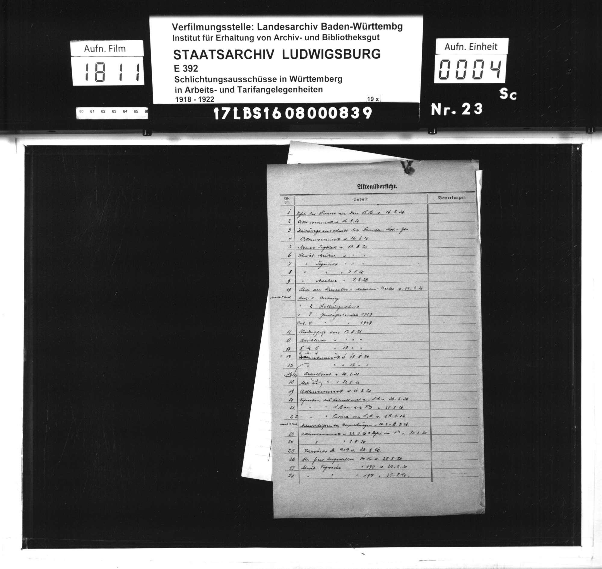 Arbeitsstreitigkeiten zwischen Direktion und Belegschaft der Firma Daimler-Motoren-Gesellschaft zu Untertürkheim wegen beabsichtigter Betriebsein schränkung durch Entlassungen und Wochenarbeitszeitverkürzung sowie schließlicher Stillegung des Betriebes, Bild 2